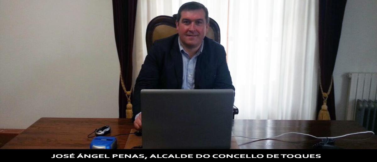 saúdo do alcalde de toques Jose Angel Penas