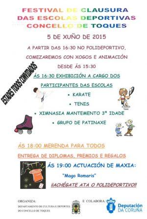 Festival de clausura das escolas deportivas