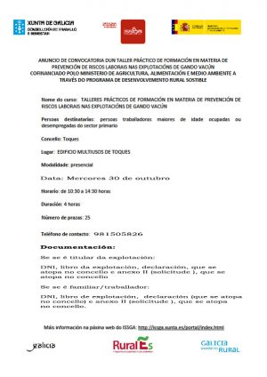 Curso de prevención de riscos en explotacións de gando vacún