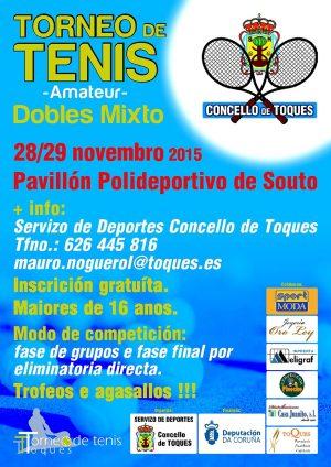 "Aberto o prazo para inscribirse no ""III Torneo de Tenis Dobres Mixto"""